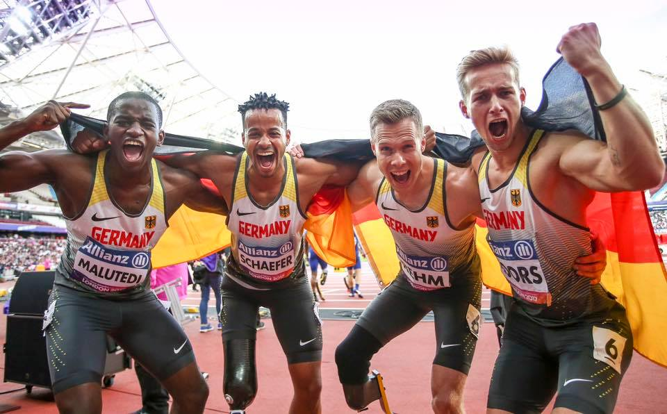 4x100m Staffel IPC WM London 2017